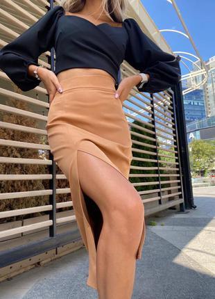 Классная юбка с разрезом🔥