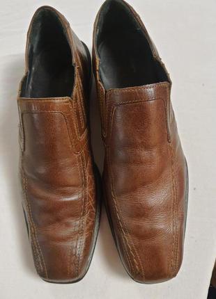 Туфли мужские burton, англия 42 размер натуральная  кожа