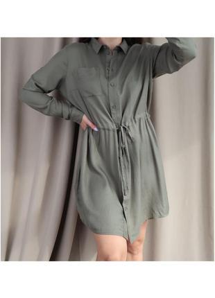 Платье с длинным рукавом на кулиске