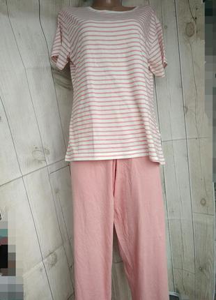 Пижама хлопковая брюки и футболка  м