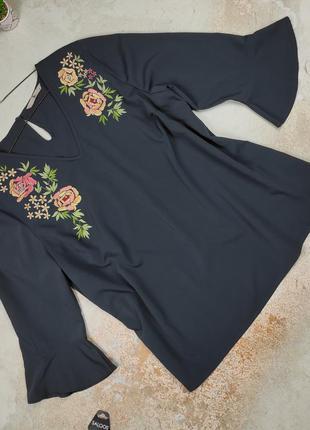 Блуза новая красивая легкая с вышивкой tu uk 16/44/xl