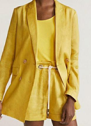 Пиджак жакет льняной mango