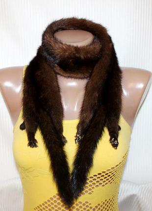Норковая горжетка шаль воротник мех норка натуральная
