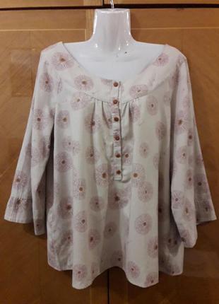 Шерстяная брендовая блуза chemins blancs paris  р.42 оригинал хлопок  шерсть а одуванчиках