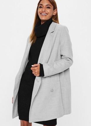 Серое пальто missguided