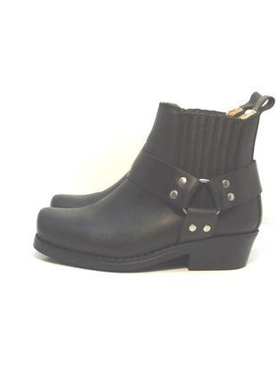 Кожаные байкерские ботинки мотоботы kochmann р. 37-38
