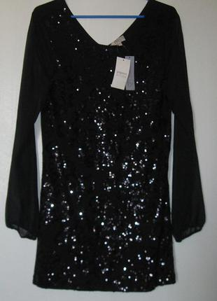 Платье вечернее коктейльное вискоза в пайетках