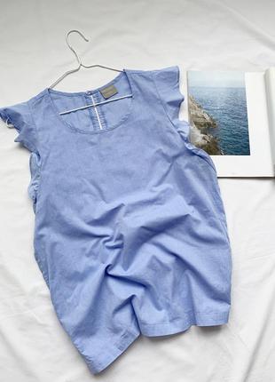 Блуза, блузка, рубашка, сорочка, с рюшами, з рюшами, голубая, голуба, blue motion