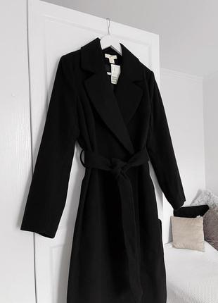 📎 идеальное черное пальто h&m🔥
