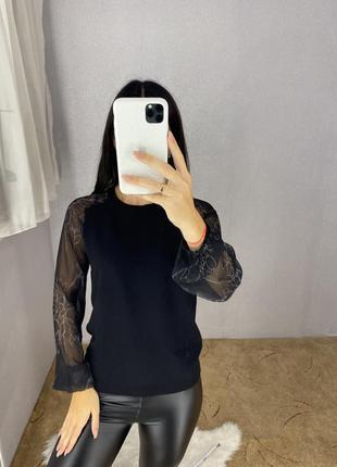 Свитер свитерок с красивыми рукавами