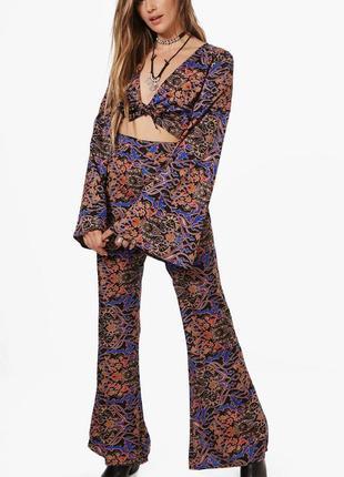 Новый костюм штаны и блуза кроп топ, комплект boohoo