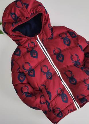 Тёплая курточка на 2-3г, синтепон, флис