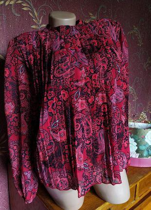 Гофрированная блуза с длинными рукавами свободного кроя от river island