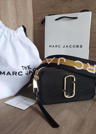 Сумка marc jacobs snapshot usa 100% original qr код (new black multi) m0014146