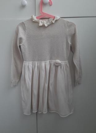 Красивое платье 2-4 года h&m с люрексом
