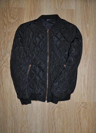 Спортивный бомбер-куртка стеганый, утепленный на синтепоне от asos (missguided