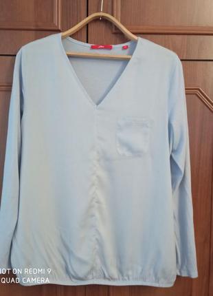Трикотажная кофточка футболка с длинным рукавом