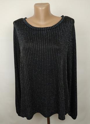 Блуза кофточка стильная с люриксом marks&spencer uk 12/40/m
