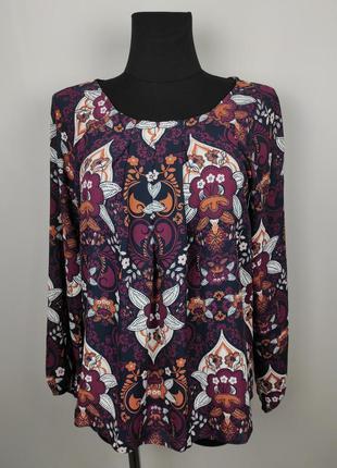 Блуза красивая в принт пейсли tu uk 10/38/s