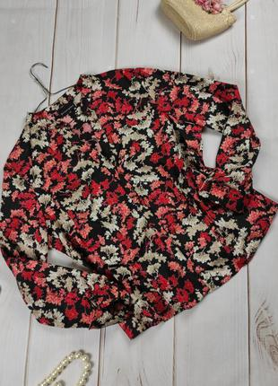 Блуза рубашка новая хлопковая цветочная uk 20/48/3xl