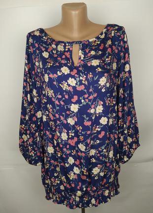 Блуза вискозная в цветочный принт tu uk 16/44/xl