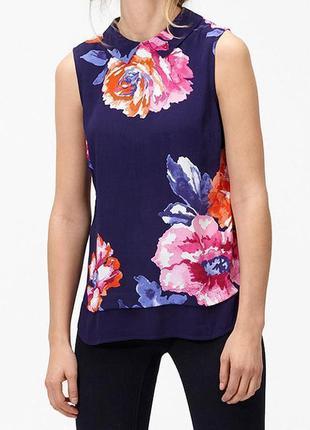 Блуза новая красивенная!!! в цветы штапель 100% вискоза joules uk 8/36/xs