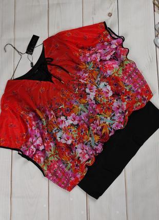 Блуза нарядная шикарная большого размера на шнуровке uk 20/48/3xl