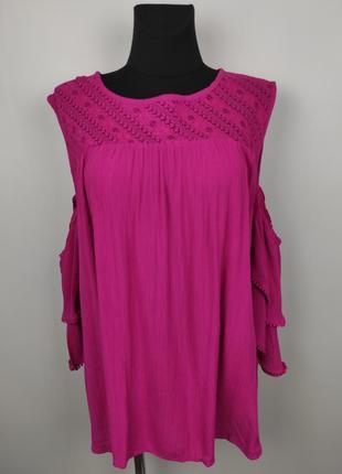 Блуза новая модная розовая большого размера tu uk 22/50/4xl
