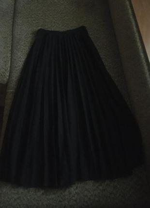 Трикотажная юбка плиссе