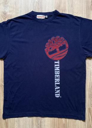 Мужская винтажная хлопковая футболка с принтом timberland