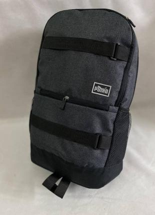 Спортивный рюкзак puma серый мужской / женский школьный