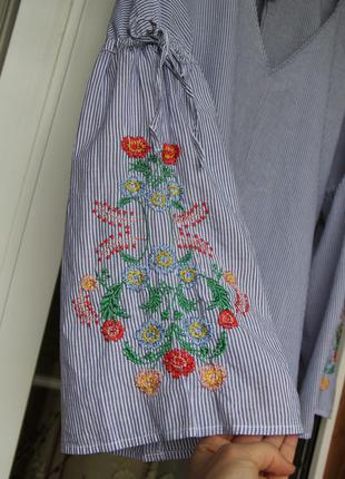 Шикарная, блуза, блузка, вышитая, вишита,