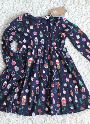 Новогоднее платье next 2-3 года (92-98см)