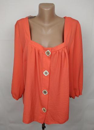 Блуза новая красивая оранжевая george uk 16/44/xl