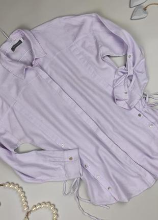 Блуза рубашка красивая хлопковая сиреневая mint velvet uk 12/40/m