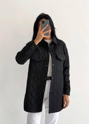 Женская демисезонная стеганная черная куртка ветровка пальто плащевка синтепон разные цвета