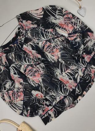 Блуза легкая красивая в принт next uk 8,14