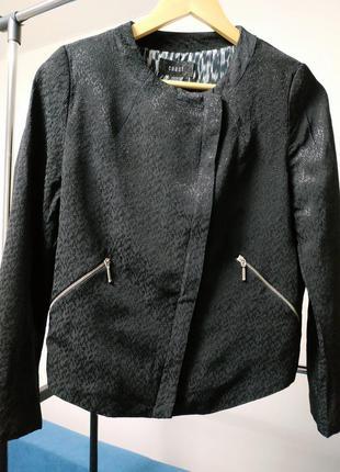 Пиджак жакет кардиган черный вискоза на молнии coast