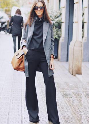 Графитовые полушерстяные брюки