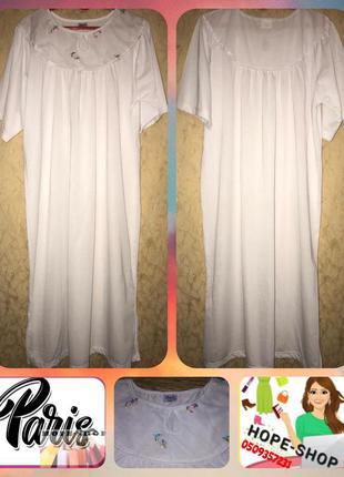 Невероятно красивая ночная рубашка,домашняя платье сорочка 52/60