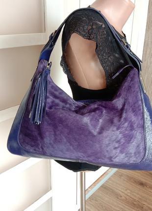Кожаная сумка letizia италия / шкіряна сумка