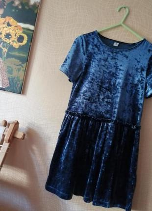 Красивое велюровое платье tu