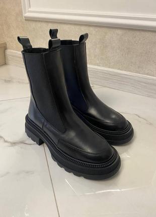 Челси натуральная кожа ботинки