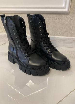 Ботинки натуральная кожа люкс с шнуровкой
