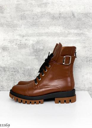 🍁женские деми ботинки в натуральной коже