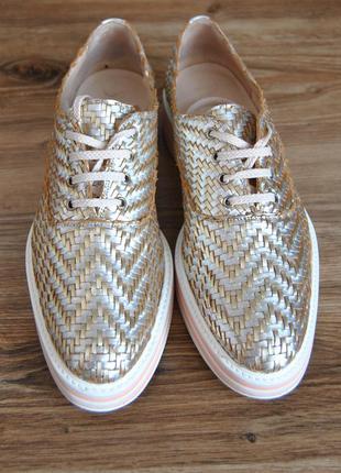 Кожаные туфли лоферы pertini / шкіряні туфлі
