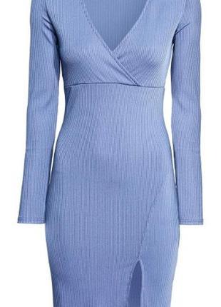 Платье трикотажное на запах h&m divided в рубчик