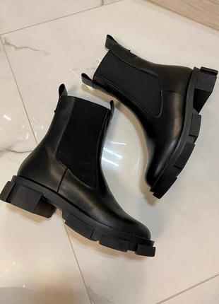 Челси ботинки натуральная кожа