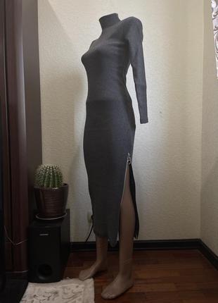 Платье базовое гольф трикотаж