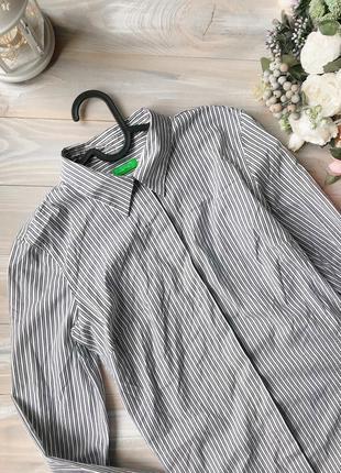 Полосата сорочка benetton